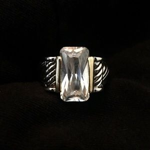 Two Tone Silver and Gold Fashion Ring